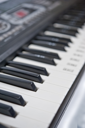 piano keys closeup photo