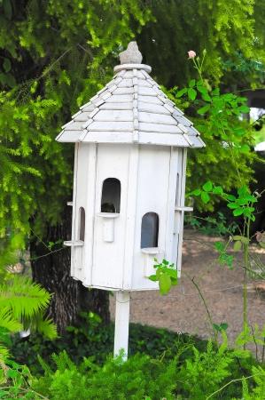 white birdhouse photo