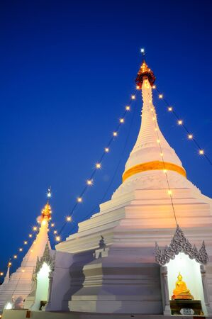 Wat Phra That Doi Kong Mu temple on a mountain top in Mae Hong Son City in Northern Thailand Stock Photo - 17251495