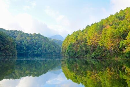 Pang-ung lake at Maehongson, Thailand photo