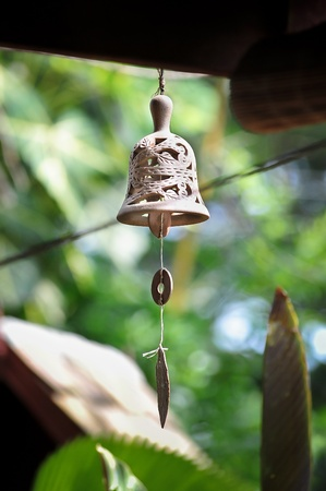 wind chime: Clay bells decorated
