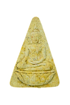 Small Buddha Image on white background photo