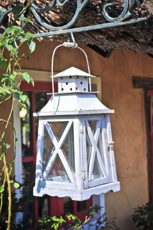 A white petrol lamp Stock Photo - 17592922