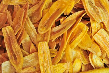 Banana chips background photo