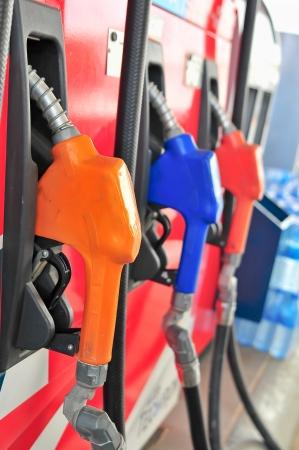 Three gas pump nozzles Stock Photo - 17999614