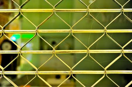 elastic metal fence door photo