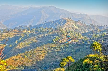 doi: Mountain village  nolar vilage on doi angkhang Mountain, chiangmai, thailand