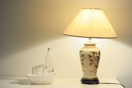 lamp in the room on the table Stock Photo - 18565145