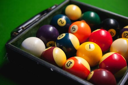 snooker: snooker ball on green table