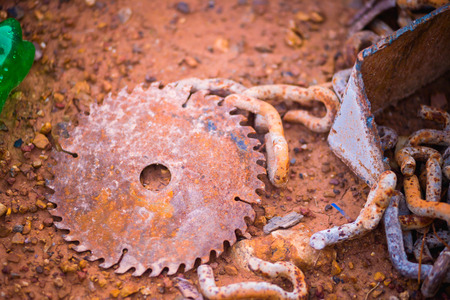saw blade: old Circular saw blade for wood work Stock Photo