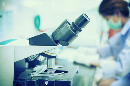 medical laboratory: Asia medical technology working at laboratory hospital