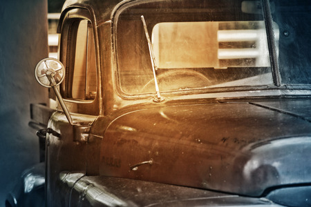 old truck: picture of Vintage old truck