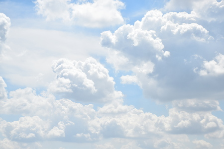 the massive cluster of cloud on the daylight sky stock photo