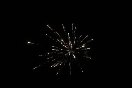 abstract fireworks with a black background