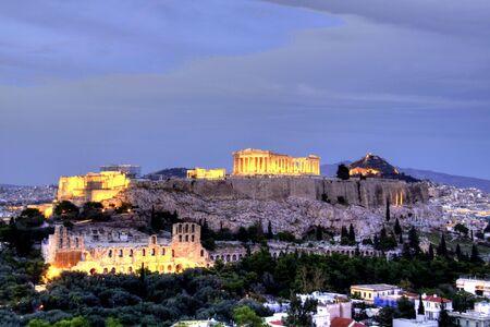 grecia antigua: Acr�polis  Foto de archivo
