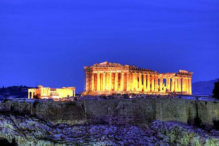 templo griego: Acrópolis  Foto de archivo
