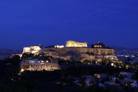 Acropolis Standard-Bild
