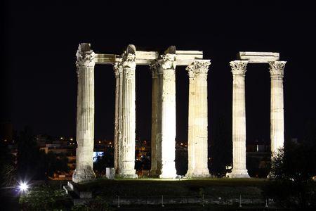 Hadrians Temple Stock Photo