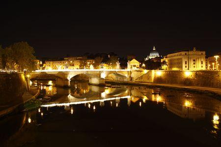 tiber: The Italian river, Tiber Stock Photo