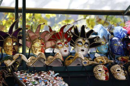 Venetian carnival masks photo