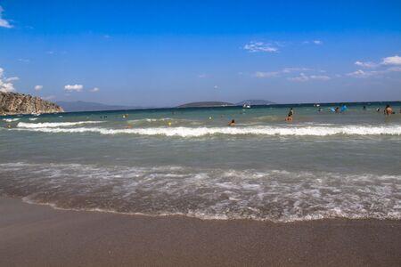 A beautiful sandy beach in Greece