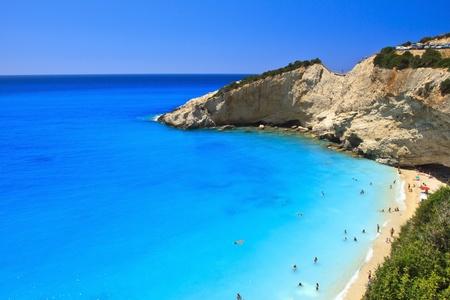 Porto Katsiki playa, Lefkada, Grecia Foto de archivo - 10195834