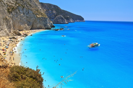 Porto Katsiki beach, Lefkada, Greece photo