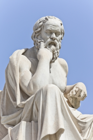 philosopher: Socrates in front of the National Academy of Athens, Greece Stock Photo