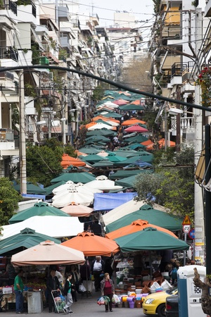 Street market in Athens, Greece