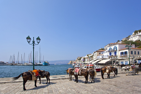seafronts: Island of Hydra in Greece