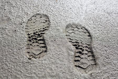 Foot print on mold