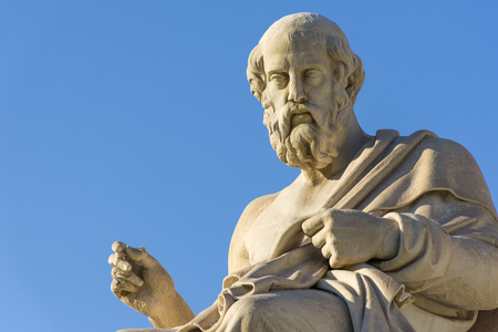 Greek philosopher Plato in front of the National Academy of Athens Фото со стока - 81933668