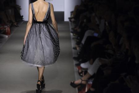Models walk runway for Athens Fashion Week