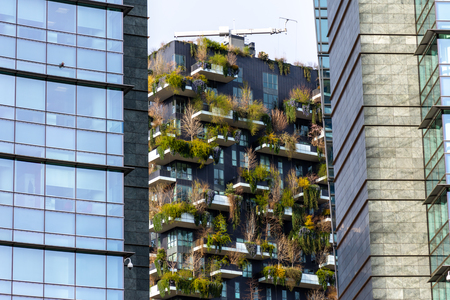 Bosco Verticale, vertical forest apartment buildings in the Porta Nuova area of the city , Milan
