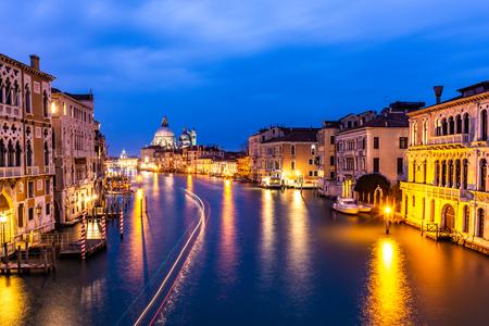Grand Canal and Basilica Santa Maria della Salute, Venice, Italy Stock fotó