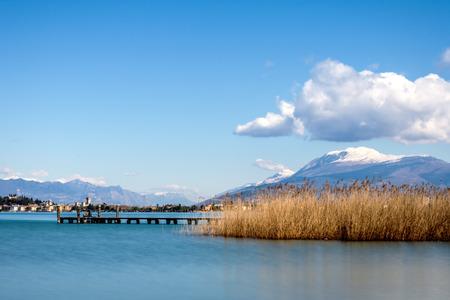 A beautiful morning over the Lake Garda, Italy