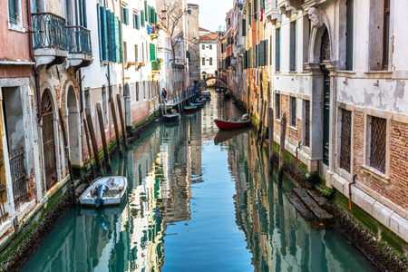Canal in Venice, Italy - Image Stock fotó