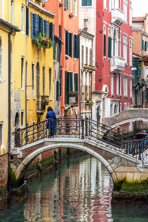 Canal in Venice, Italy Standard-Bild