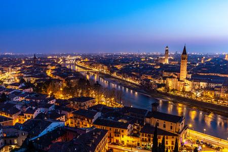 Beautiful sunset view of Verona, Veneto region, Italy
