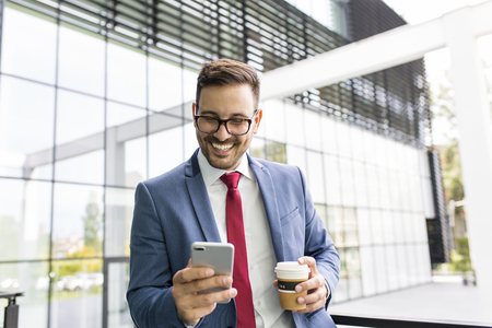 Business on the pause typing text message