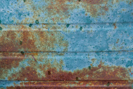 Blue and Rusted Metal Banco de Imagens