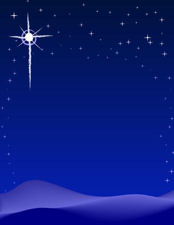 Peaceful starry night background scene Stock Vector - 1771707
