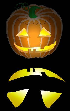 Glowing vector based illustration of a jack-o-lantern  Zdjęcie Seryjne