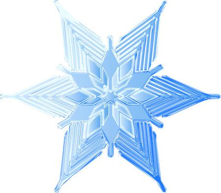 gestural: Gestural style sketch of an icy blue snowflake Illustration