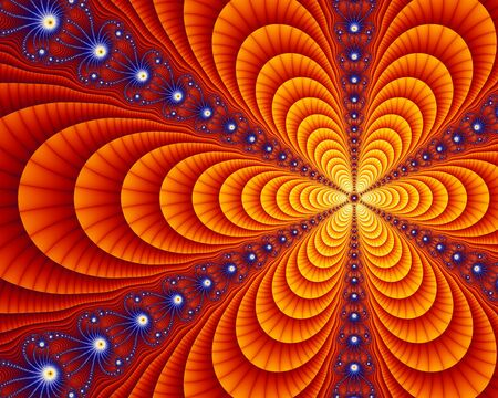 Klein deel van de set Juila fractal, een wiskundige vergelijking resulteert in eindeloos herhalen zichzelf vergelijkbare geometrie. Stockfoto