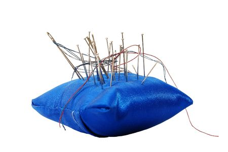 pinhead: Pincushion with needles and threads