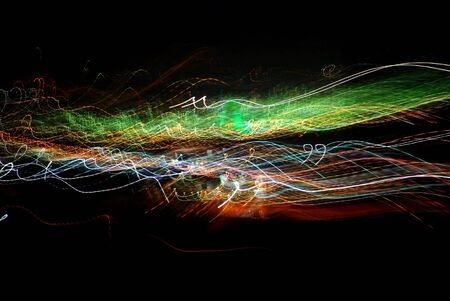 Abstract light trails photo