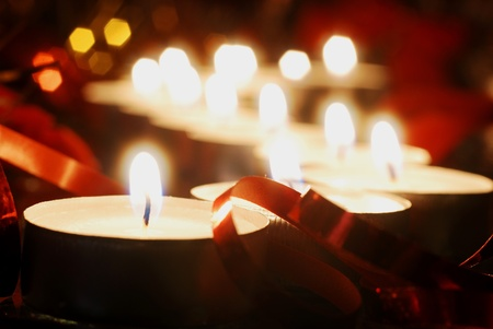 Candles for christmas photo