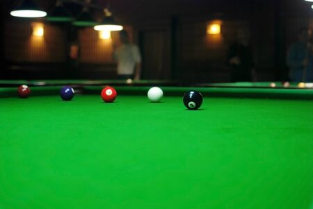 snooker table: Billiards balls