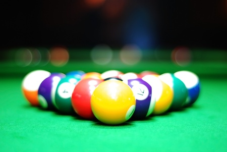 billiards tables: Billiards balls